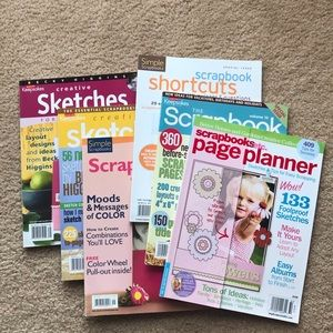 Other - Lot of 6 Scrapbooking Idea Books.
